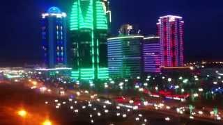 Ночной город Грозный