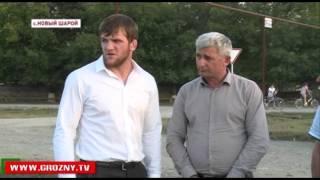 Фонд Кадырова строит дом для семьи Лорсановых в Новом Шарое