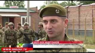 Звание лучшего по служебному многоборью  оспаривали  сотрудники  полка им. Ахмата-Хаджи Кадырова