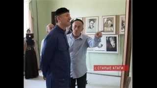 В Старых Атагах прошла выставка работ юной художницы Чечня.