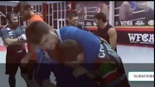 Khabib Nurmagomedov Training MMA With Ramzan Kadyrov Head Of The Chechen Republic