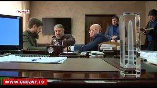 Рамзан Кадыров проинспектировал ход строительных работ башни «Ахмат-Тауэр»