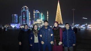 Рамзан Кадыров Открытие главной елки в Грозном.