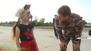Рамзан Кадыров провел инспекцию строительства в Курчалое