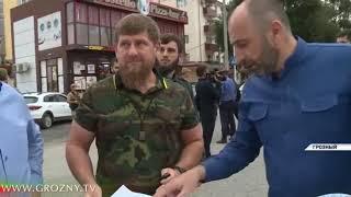 Рамзан Кадыров провел инспекцию реконструкции Грозного