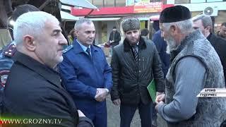 Рамзан Кадыров посетил строительную площадку нового торгового комплекса в Гудермесе