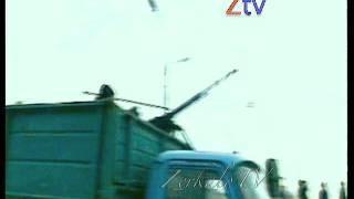 Грозный, Чечня.  Сбит российский Истребитель, 1994 г. Кинохроника