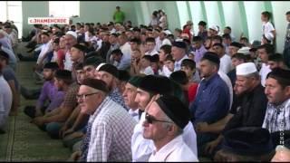 Р.Кадыров принял участие в открытии мечети им.Абаста-Хаджи