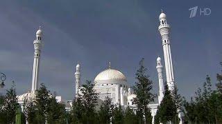 """В чеченском городе Шали открыли самую большую в Европе мечеть """"Гордость мусульман""""."""