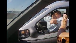 Конфликт на Литейном мосту с неадекватым водителем
