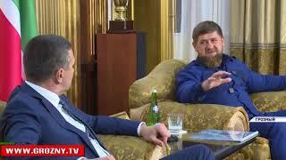 Рамзан Кадыров встретился с заместителем гендиректора ООО «Газпром межрегионгаз» Анатолием Еркуловым