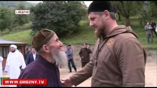 Рамзан Кадыров и Хибиб Али Джифри побывали на свадьбе в селении Ведучи