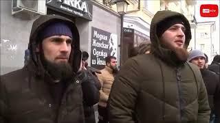 Чеченская джигитовка: Собчак назвали лошадью на пикете в Грозном