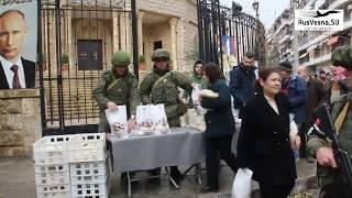 Сирия: Армия России в Алеппо, сиро-католический квартал