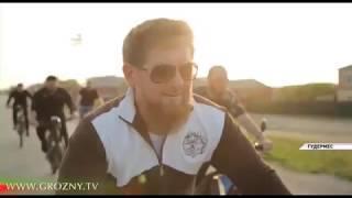 Глава Чеченской Республики  совершил велопробег от Курчалоя до Гудермеса