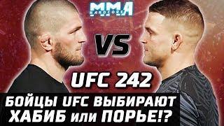 БОЙЦЫ UFC ВЫБИРАЮТ ПОБЕДИТЕЛЯ: ХАБИБ ИЛИ ПОРЬЕ? UFC 242! ОРЕЛ или БРИЛЛИАНТ?