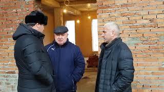 Проинспектировали ход строительных работ дома культуры Ножай-Юртовского района