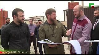 Рамзан Кадыров проверил ход работ на стройплощадках в Курчалое
